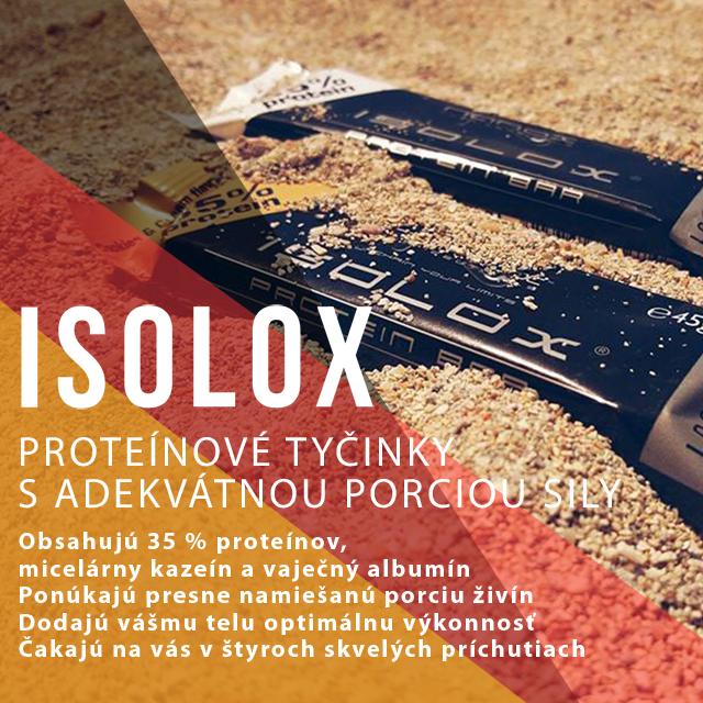 Proteínové tyčinky Nanox Isolox